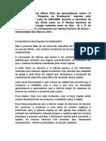 Esse Texto é Fruto Da Apresentação Feita Pelo Professor Sérgio Leite Da UNICAMP