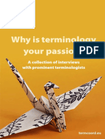 Why is Terminology Your Passion? Book 1