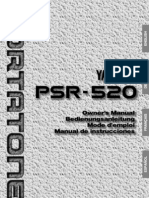 Manuel de Yamaha PSR520S