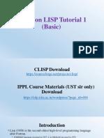 CLISP Basic