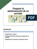 2.- Preparar La Administracion de Un Servidor