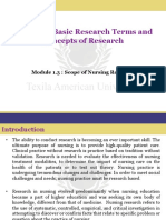 Scope of Nursing Research