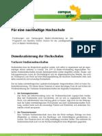 CGBW_FüreineNachhaltigeHochschule_PositionspapierLTW2011