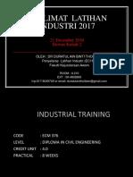 Taklimat 1 Latihan Industri Tahun 2017 (Updated 22 Dec 2016)