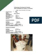 Especificaciones Técnicas Del Trafomix 2016