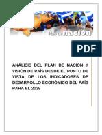 Análisis Plan de Nación y Visión de País 2038 HN