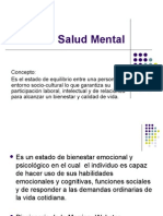 Salud Mental y Trastornos Mentales