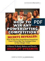 How to Win Any Powerlifting Competition