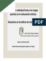 Protección Individual Frente a Los Riesgos Químicos en La Restauración Artística. Situaciones en Los Talleres de Restauración.