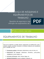 Apresentação 5-Requisitos de segurança e regras de utilização de equipamentos de trabalho