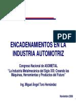 Encadenamientos en La Sector de La Industria Automotriz Canacintra Industria