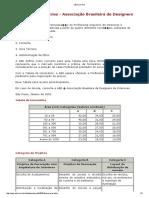 Tabela Honorários - ABD (Associação Brasileira de Design)