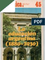 Juan Carlos Tedesco - Educación 1880-1930