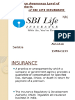 A Study on Awareness Level of Insurance