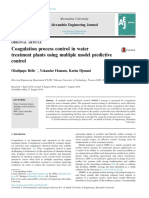 3.1 Coagulation Process Control in Water Treatment Plants Using Multiple Model Predictive Control