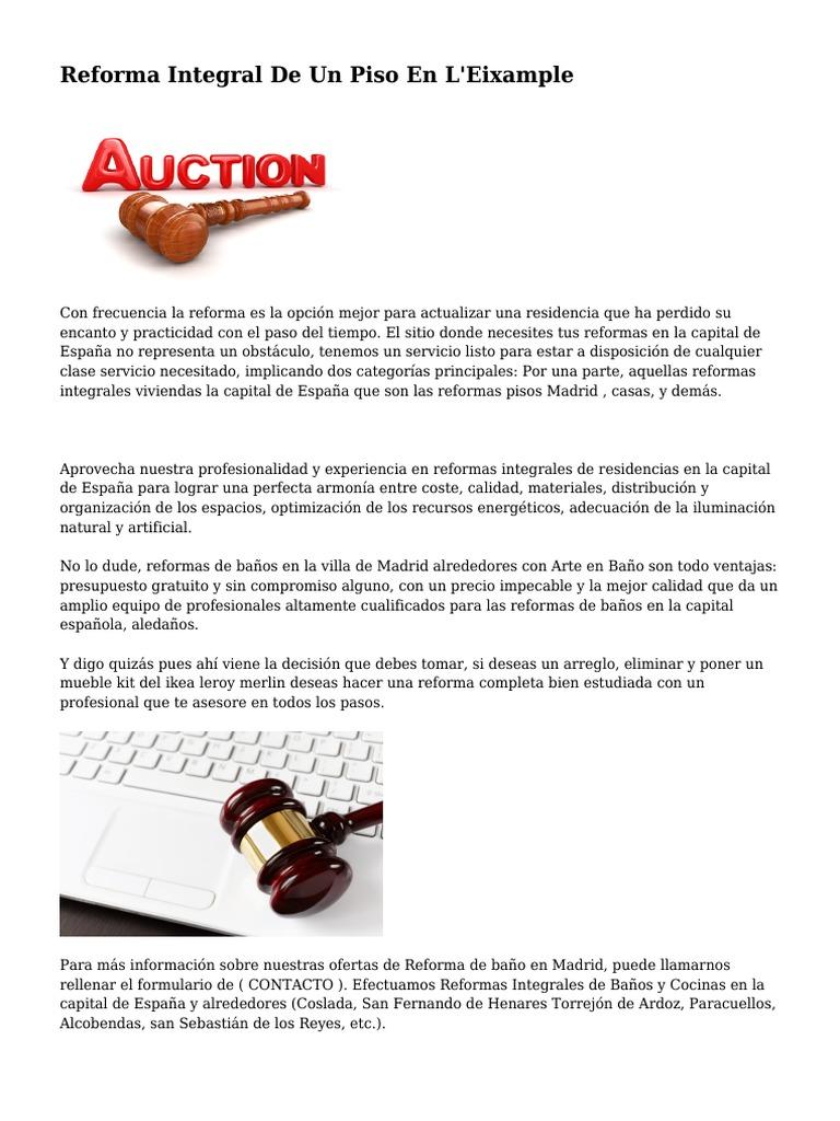 Presupuesto reforma integral madrid great cuanto cuesta for Cuanto vale una reforma integral