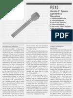 RE15 Engineering Data Sheet