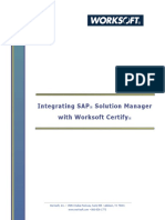 Integrating SAP Solution Manager With Worksoft Certify