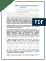Pronunciamiento Sobre El Sistema Eléctrico Nacional EN VENEZUELA
