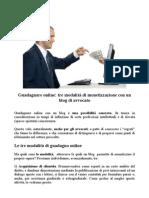 Guadagnare Online - Tre Tecniche Di Monetizzazione Per Avvocati