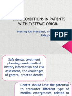 Oral Conditions in Patients With Systemic Origin