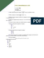 Números Complejos Problemas