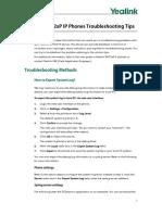 Yealink SIP-T2xP IP Phones Troubleshooting Tips