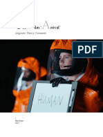 Linguistic Theory of the Film 'Arrival'