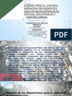 Disposiciones Para El Control Contaminacion Provenientes Descargas De
