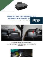 Manual de Desarmado de Impresora Epson TX-200