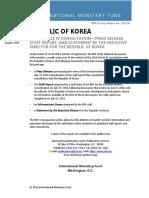 Raportul FMI Coreea de Sud 2016