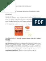 Proyectos Institución Renata