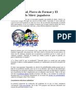Pascal, Fermat y el Caballero de Meré