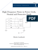 High-Frequency Noise in Power Grids, Neutral and Protective Ground (Lundmark 2006)