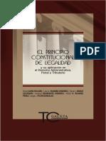 VV.AA. El principio constitucional de legalidad. Lima, Gaceta Juridica, 2013.