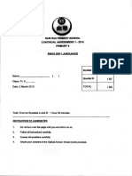 ENGLISH P6 English CA1 2015 Nan Hua Exam Papers