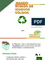 Manejo Adecuado de Residuos Solidos