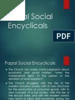 Papal Social Encyclicals 1