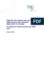 Options for Phase Two of the High Speed Rail Network Approach to Design