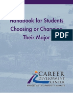 Handbook for Students Choosing or Changing Their Major