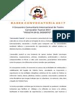 Bases Carnavalón Teatral 2017