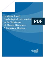 Evidence Based Psychological Interventions