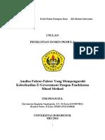 Contoh Proposal Dosen Pemula