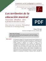 Vicari, P. (2016) Territorios de La Educación Musical, Variaciones Filosóficas.