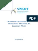Modelo de Acreditación - Educación Básica