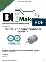 Control Velocidad y Sentido Motor de DC – DIYMakers