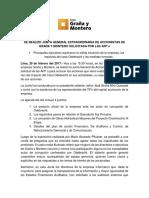 GRAÑA Y MONTERO AVANZA CON SU ESTRATEGIA DE DESINVERSIONES