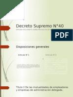 Decreto Supremo N°40