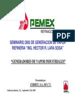 Seminario 2005 PEMEX Refinación Generadores de Vapor Industriales.pdf