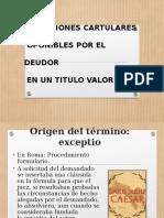 Excepciones Cartulares, Reales y Personales en El Derecho Comercial Costa Rica